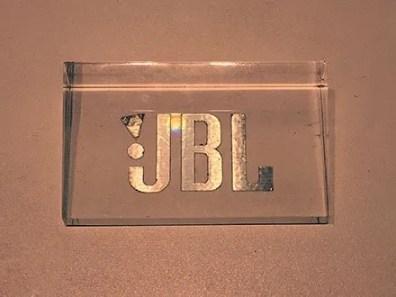 Acrylic JBL Logo Plaque 2