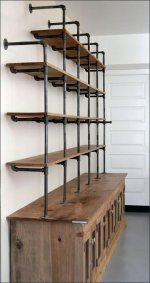 Do-It-Yourself Cast Iron Pipe Shelving Display Aux