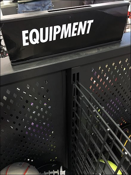 Generic Equipment Signage at Nike