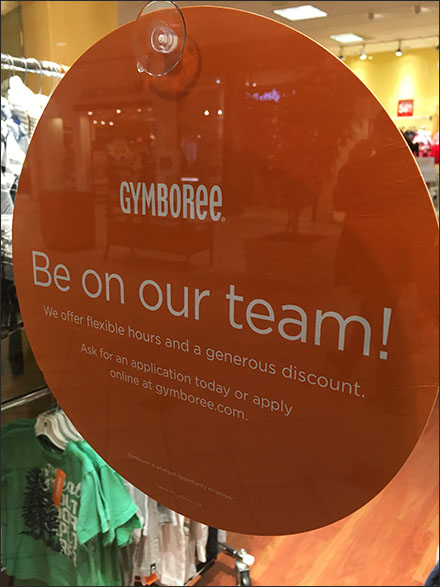 Gymboree Golden Job Opportunity
