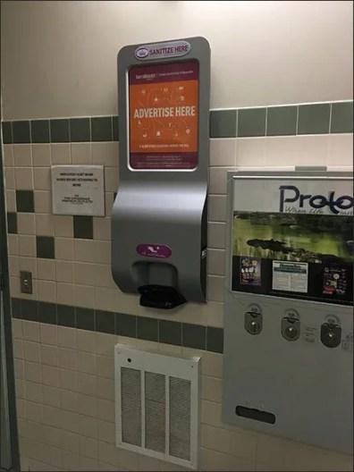 Restroom Hand Sanitizer Billboard Advertising Nationwide