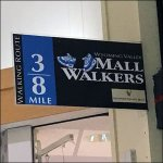 Mall Walkers Mile Marker Closeup