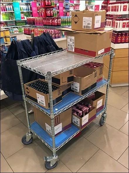 Shelf Overlay Outfits A Fleet of Carts