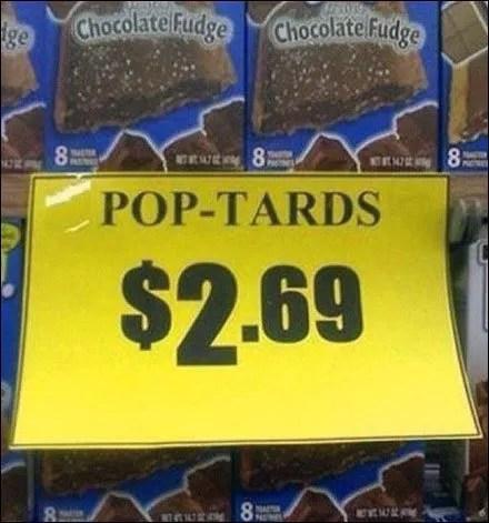 Pop Tards On Sale