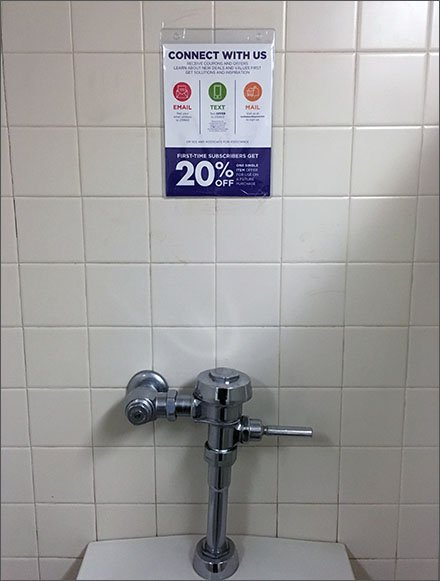 Urinal Out-of-Home Advertising in the Restroom