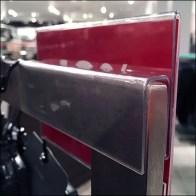 Saddle-Mount Acrylic Rack Talker CloseUp Detail Main