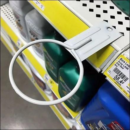 Shelf-Edge Ring Hook For Oil Funnels CloseUp