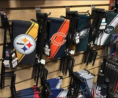 Team Branded Lawn Flag Display Hooks 0