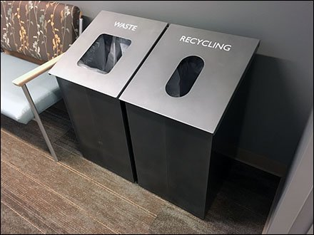 Waste Bin vs Recycling Receptacle Access