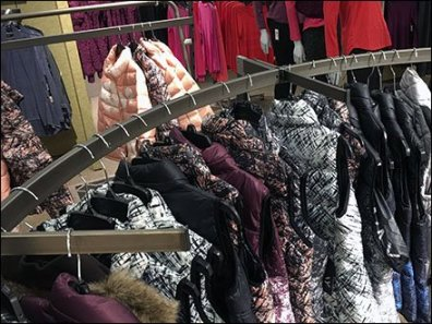 Apparel Rack in an Arc 2