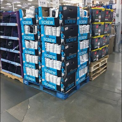 Burlington Crew Sock Pallet Merchandising 1