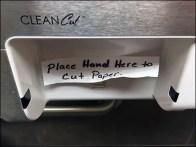 Clean Cut Towel Displenser Remedial Signage 2