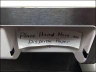 Clean Cut Towel Displenser Remedial Signage 3