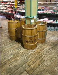 Gourmanoff Branded Barrel Bulk Bins