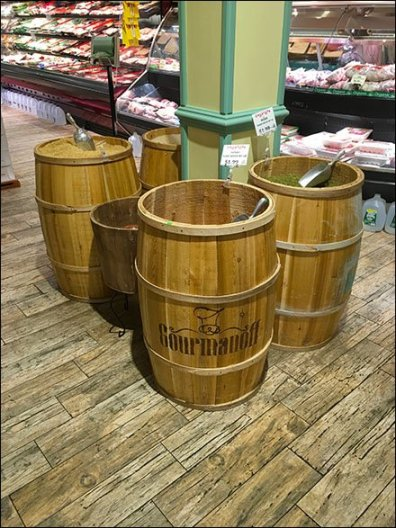 Gourmanoff Produce Branded Barrel Bulk Bins 2