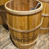 Gourmanoff Branded Barrel Bulk Bins