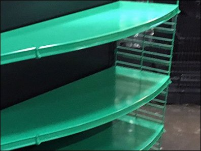Green Gondola Serpentine Curve Shelves