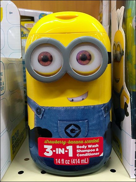 Minion 3-in-1 Body Wash Closeup