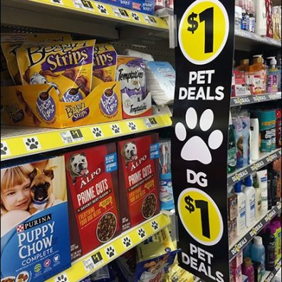 Paw-Signed Pet Deals At Dllar General 1