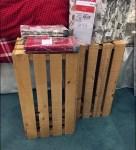 Slated Produce Crate Pedestals Closeup