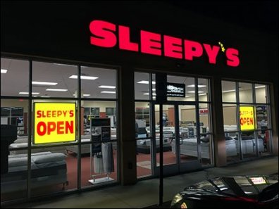 Sleepys Night Time Open Sign 1