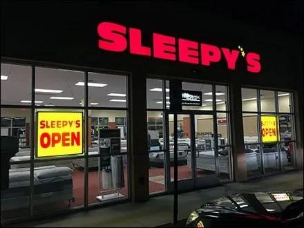 Sleepys Night Time Open Sign Main