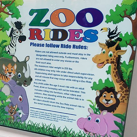 Mall Zoo Ride Rules Spelled Out