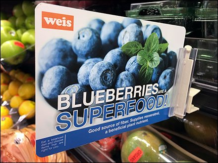 Blueberry Superfood Grip Clip at Shelf Edge