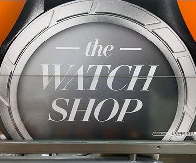 Champion Watch Shop Branded Closeup