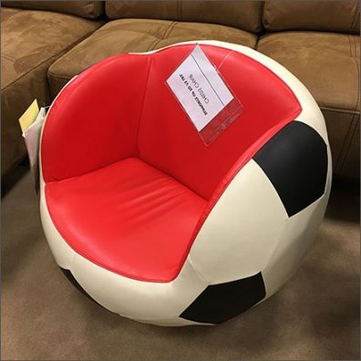 Childrens Sport Seating In-Store CloseUp Aux
