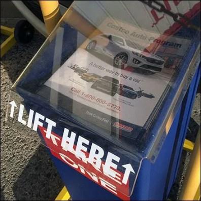 Costco Outdoor Auto Sales Literature Holder