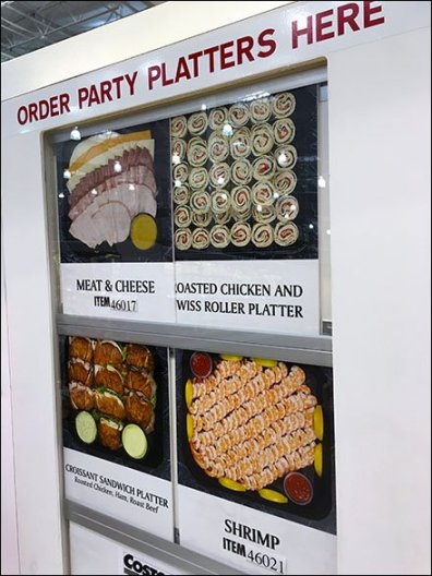 party trays costco