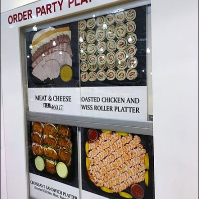 Costco Self-Service Party Platter Order Station – Fixtures Close Up