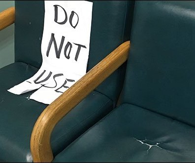 Do Not Use Seating Sign 3