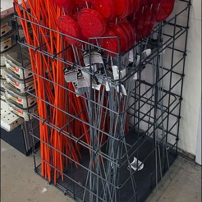 Driveway Reflector Gridded Merchandiser