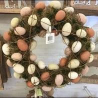 Easter Egg Wreaths Back Labelled Pegboard Hook CloseUp