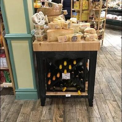 Gourmanoff Wine and Cheese Merchandising Island 1