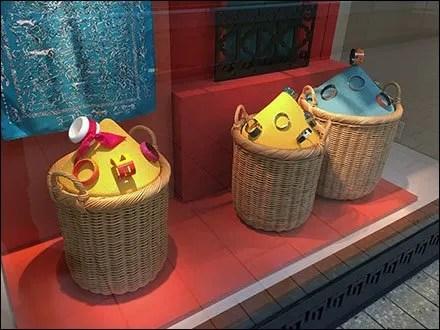 Hermes Color Sands Wicker Baskets Group