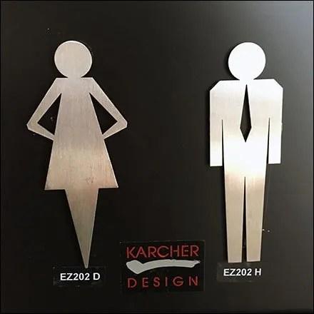 Karcher Design Concierge Hardware Restroom Signs
