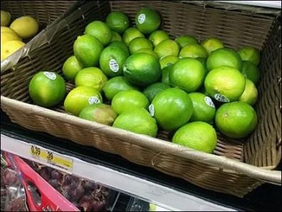 Lemon, Lime & Lemon-Lime Wicker Display 2