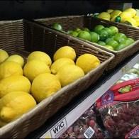 Lemon, Lime & Lemon-Lime Wicker Display