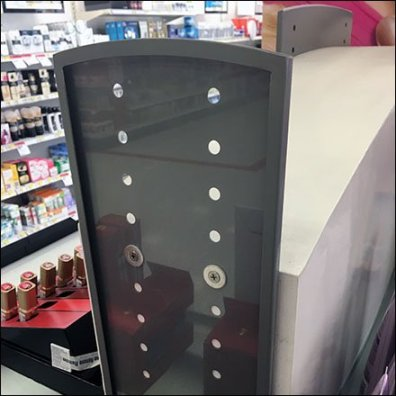L'Oreal Adjuatable Sign Holder Perforations Featured
