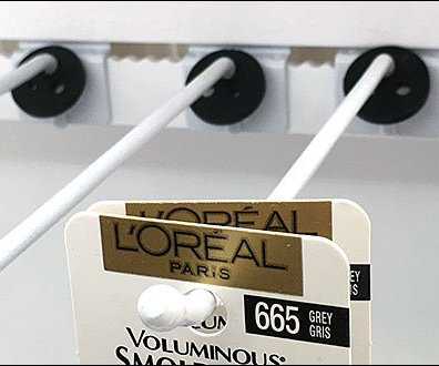 L'Oreal Indexed Ball-End Bar Display Hook 2