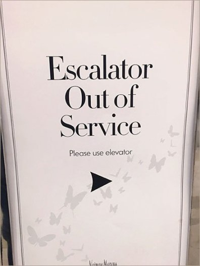 Neiman Marcus Branded Escalator Out-Of-Service 2