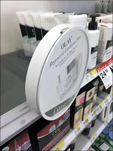 Olay Pro-X Circular Shelf Edge Sign Holder Mount 1