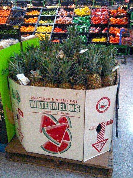 Pineapple Mislabeled in Produce