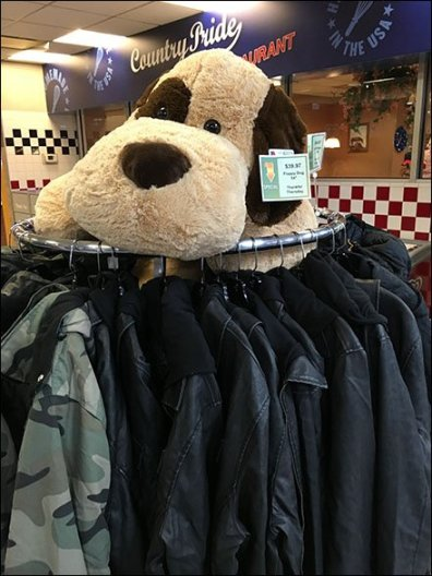 Jumbo Plush Puppy Rules Apparel Rack