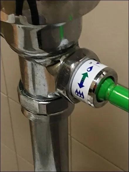 Restroom Dual Mode Toilet Flush Color Code 3