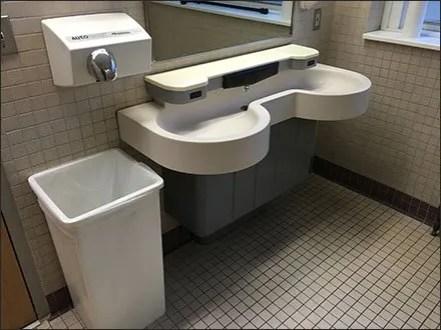 Integral Soap Dispenser Restroom Sink