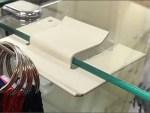 Reverse Butterfly Hook For Glass Shelf